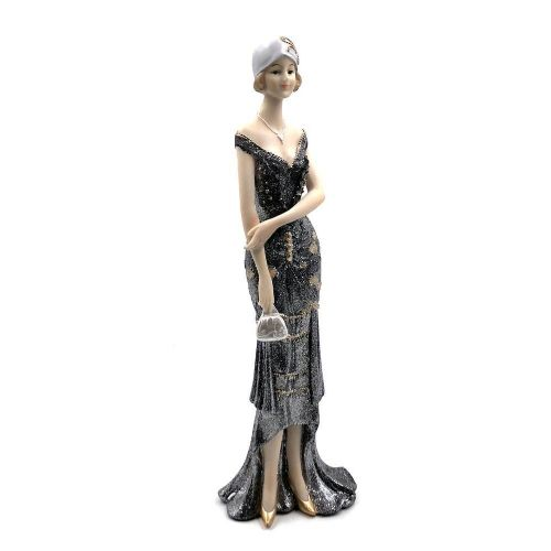 Juliana Broadway Belles Art Deco Lady figurine ornament Black Dress Collection 'Eleanor' 62724